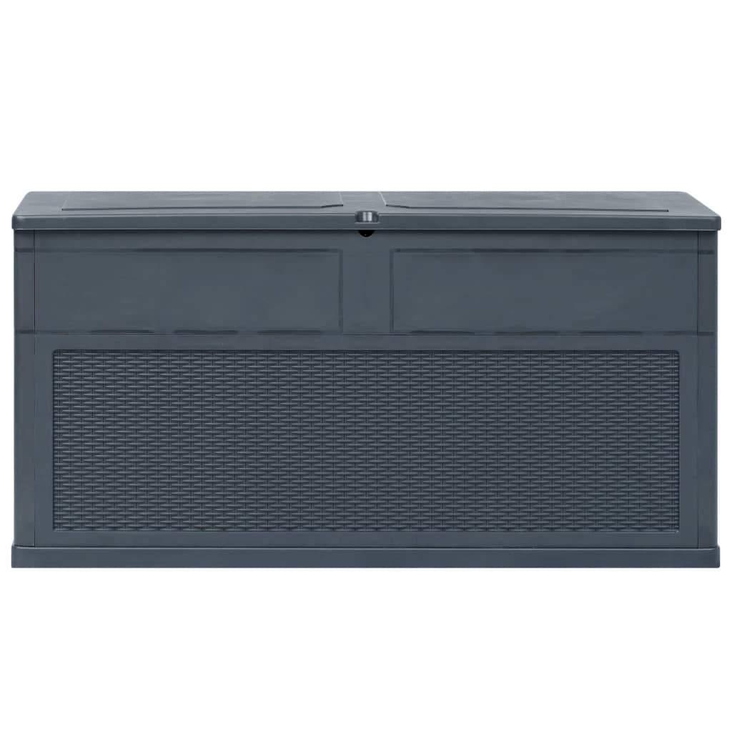 vidaxl garten aufbewahrungsbox 320 l anthrazit
