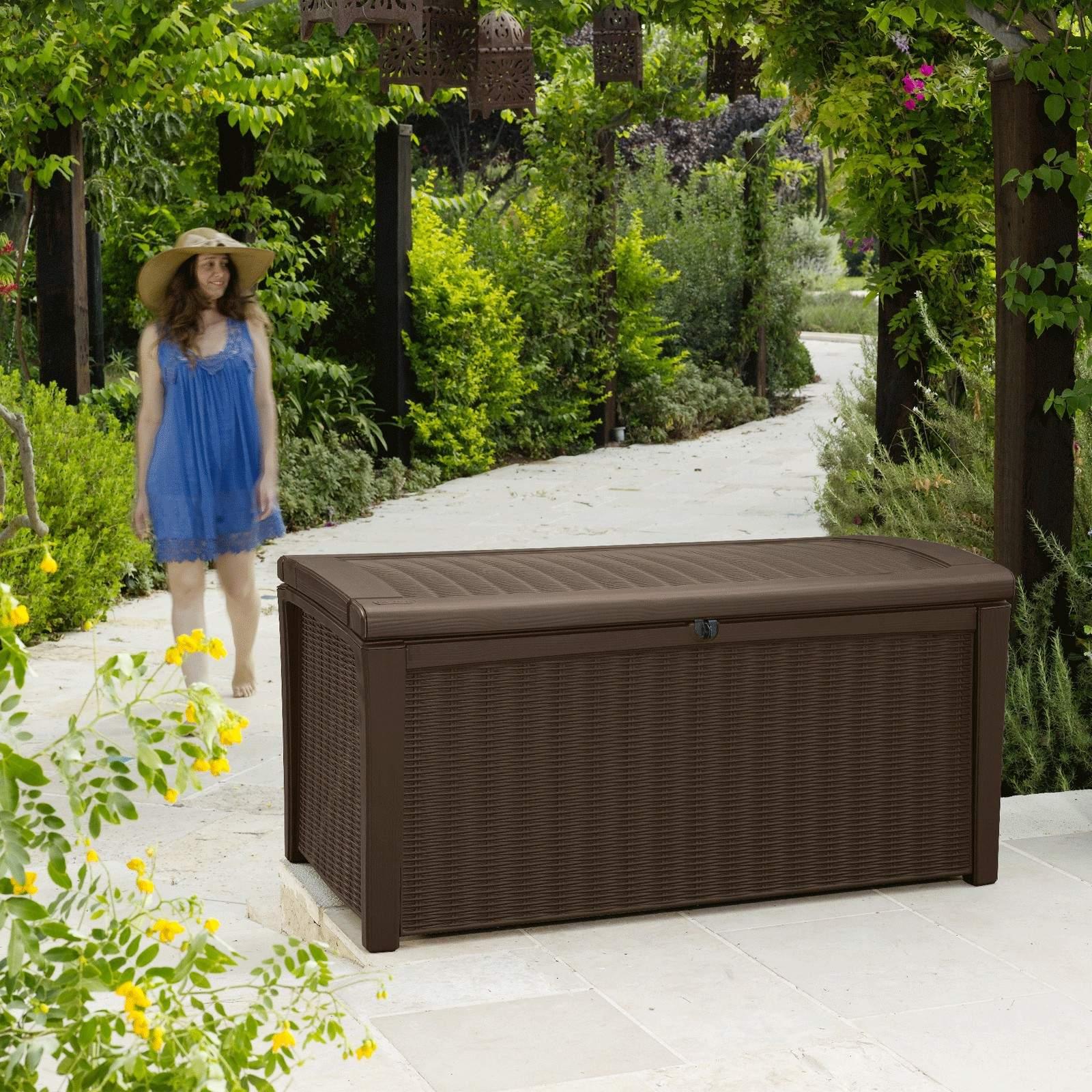 Keter Garten Box Aufbewahrungsbox Holzoptik Bo 2