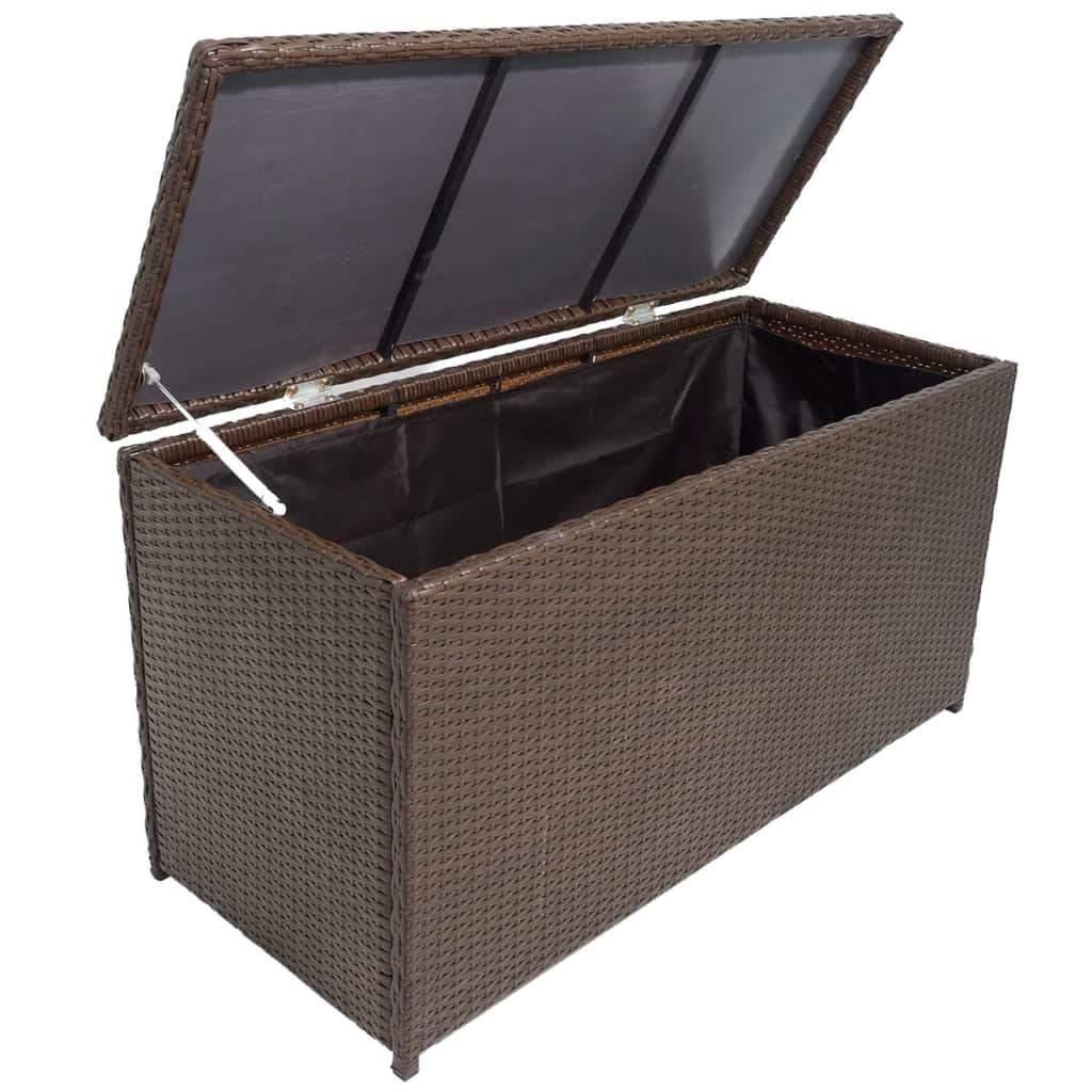 Aufbewahrungsbox Garten Genial Garten Aufbewahrungsbox Braun 120—50—60 Cm Poly Rattan
