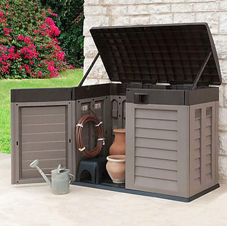 Aufbewahrungsbox Garten Genial Garten Gerätebox Aufbewahrungsbox Mülltonnenbox 240 Liter