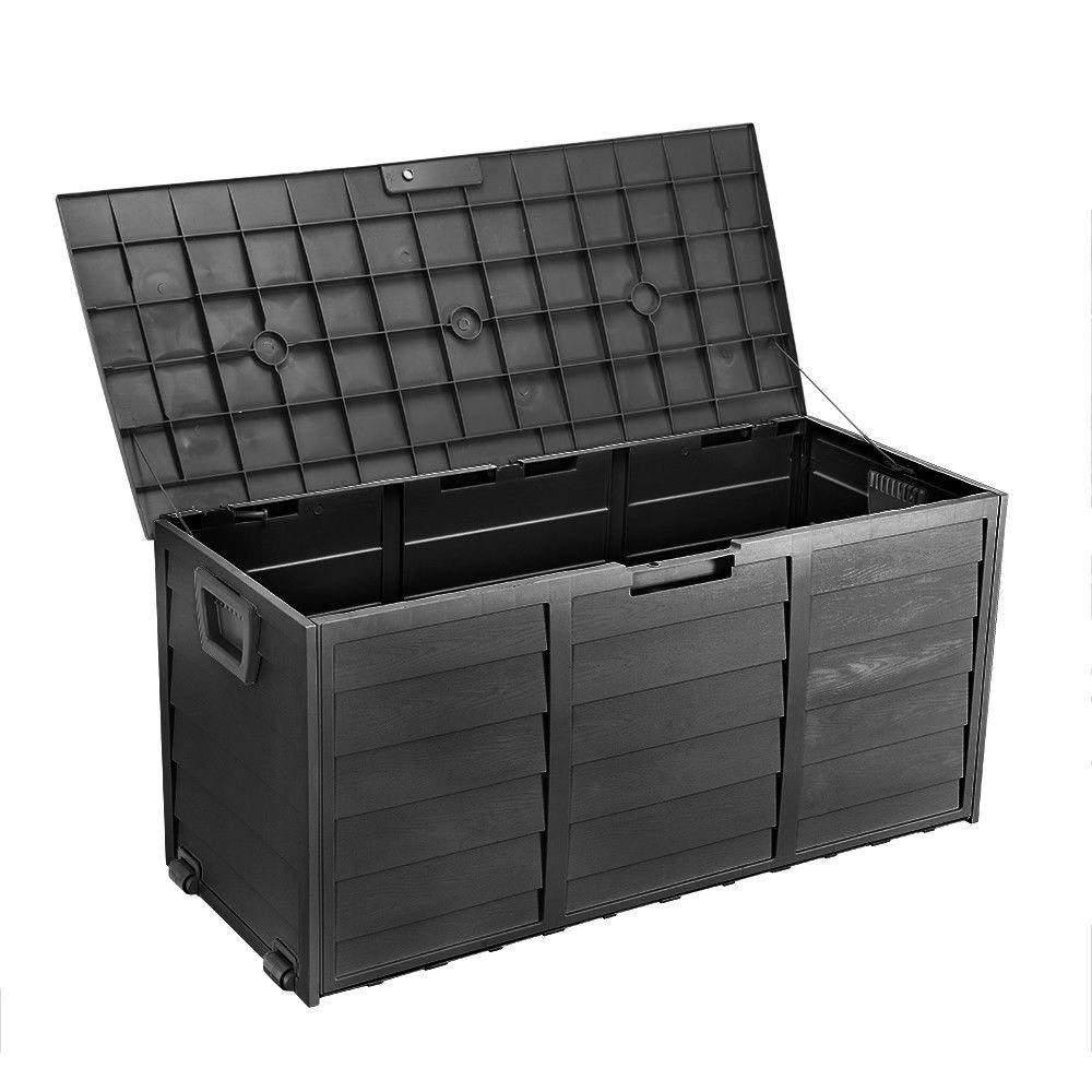 Aufbewahrungsbox Garten Neu Details Zu Garten Aufbewahrungsbox Schwarze Holzimitation 112x49x54cm Aufbewahrungsbox Ga