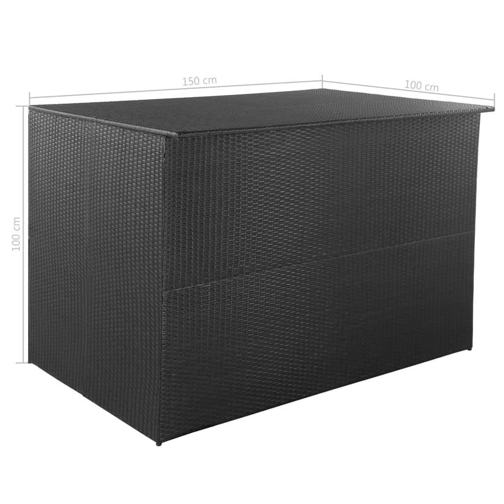 Aufbewahrungsbox Garten Neu Garten Aufbewahrungsbox Poly Rattan 150—100—100 Cm Schwarz