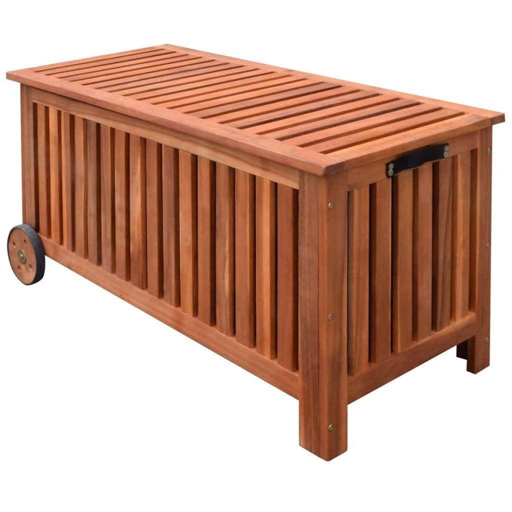 Aufbewahrungsbox Garten Reizend Vidaxl Garten Aufbewahrungsbox 118—52—58 Cm Holz