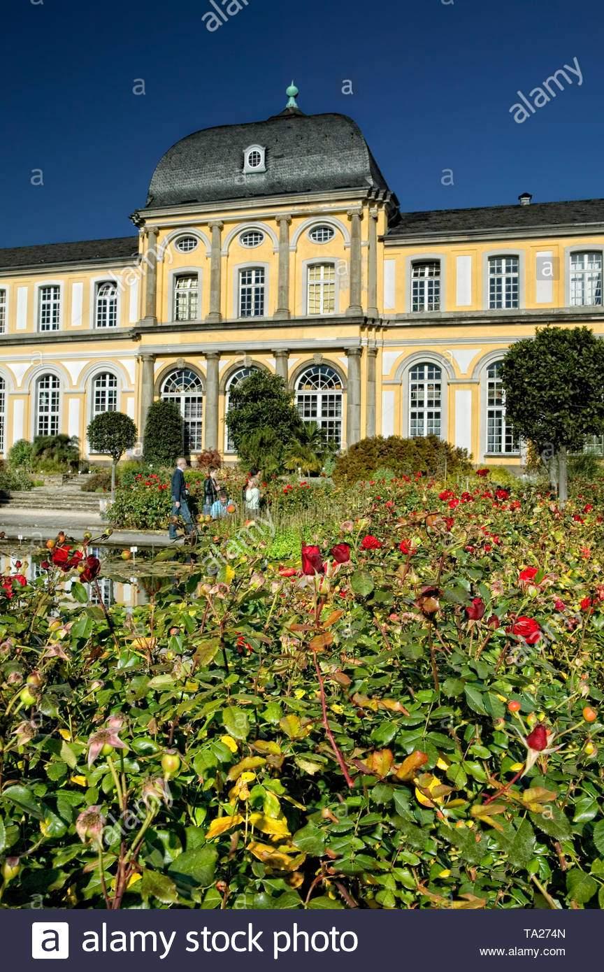 poppelsdorfer schloss botanischer garten bonn deutschland europa ta274n