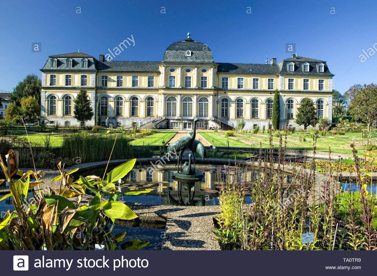 poppelsdorfer schloss botanischer garten bonn deutschland europa ta0tr9