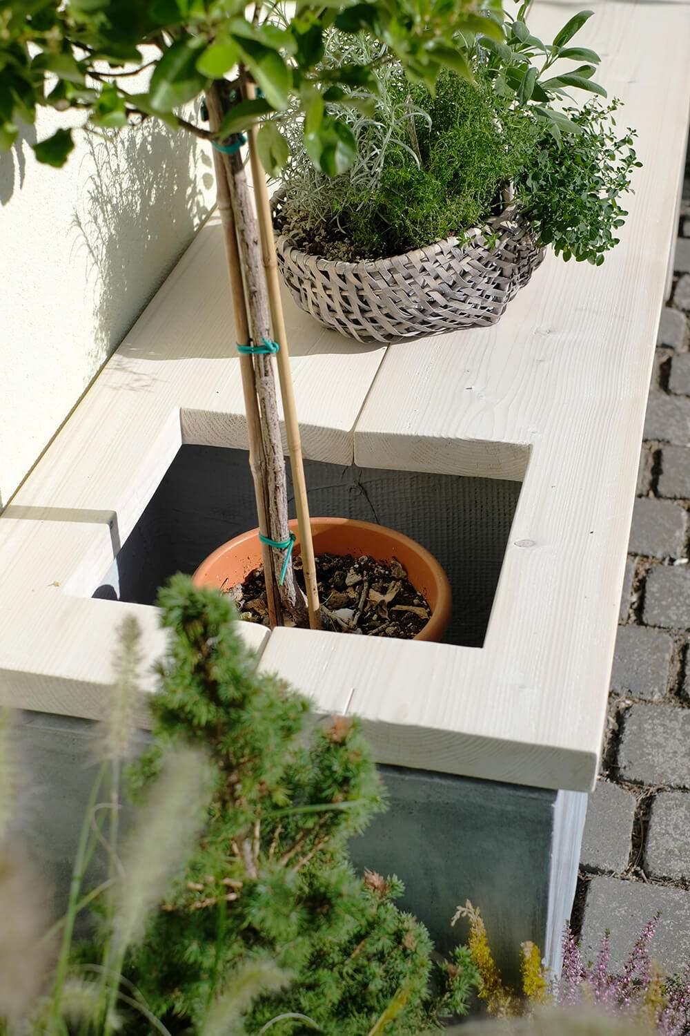 Diy Garten Elegant Diy Bank Garten Manomano Blumenkuebel Loch Gingered Things