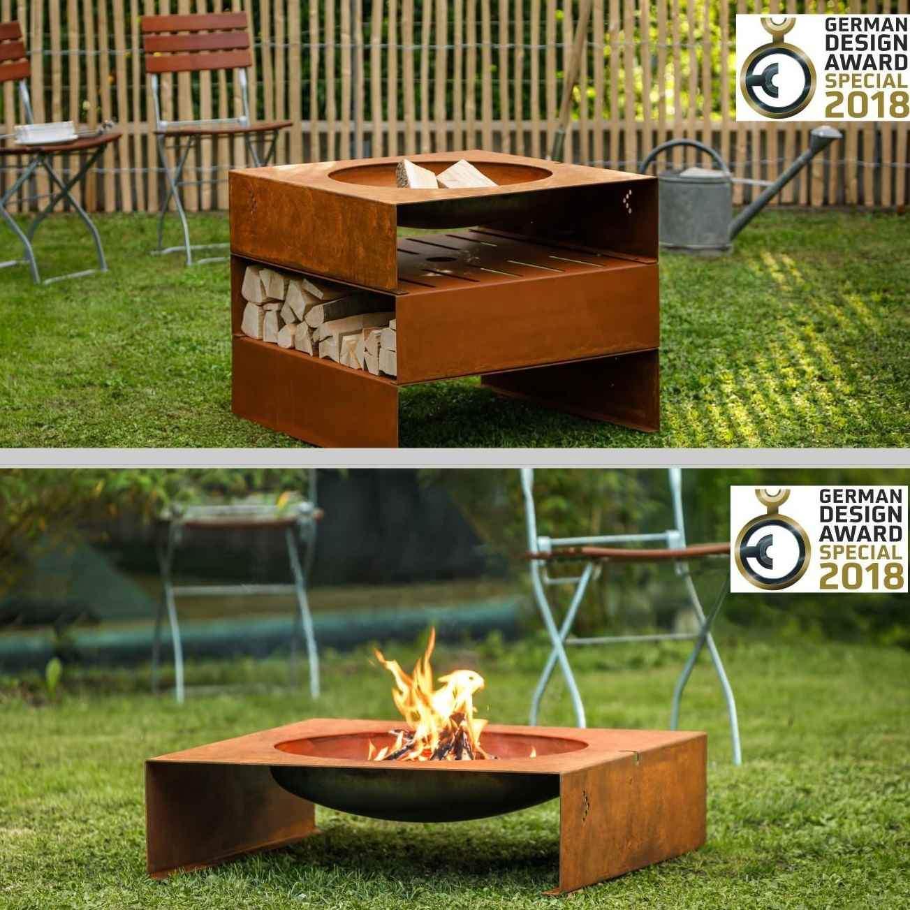 Feuerstelle Im Garten Das Beste Von Stahl Design Garten Feuerstelle