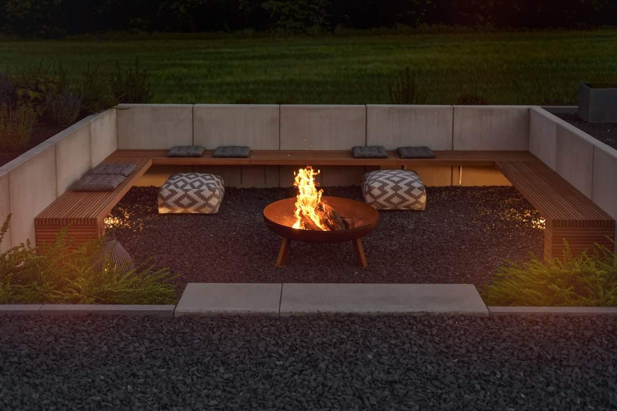 Feuerstelle Im Garten Reizend Garten