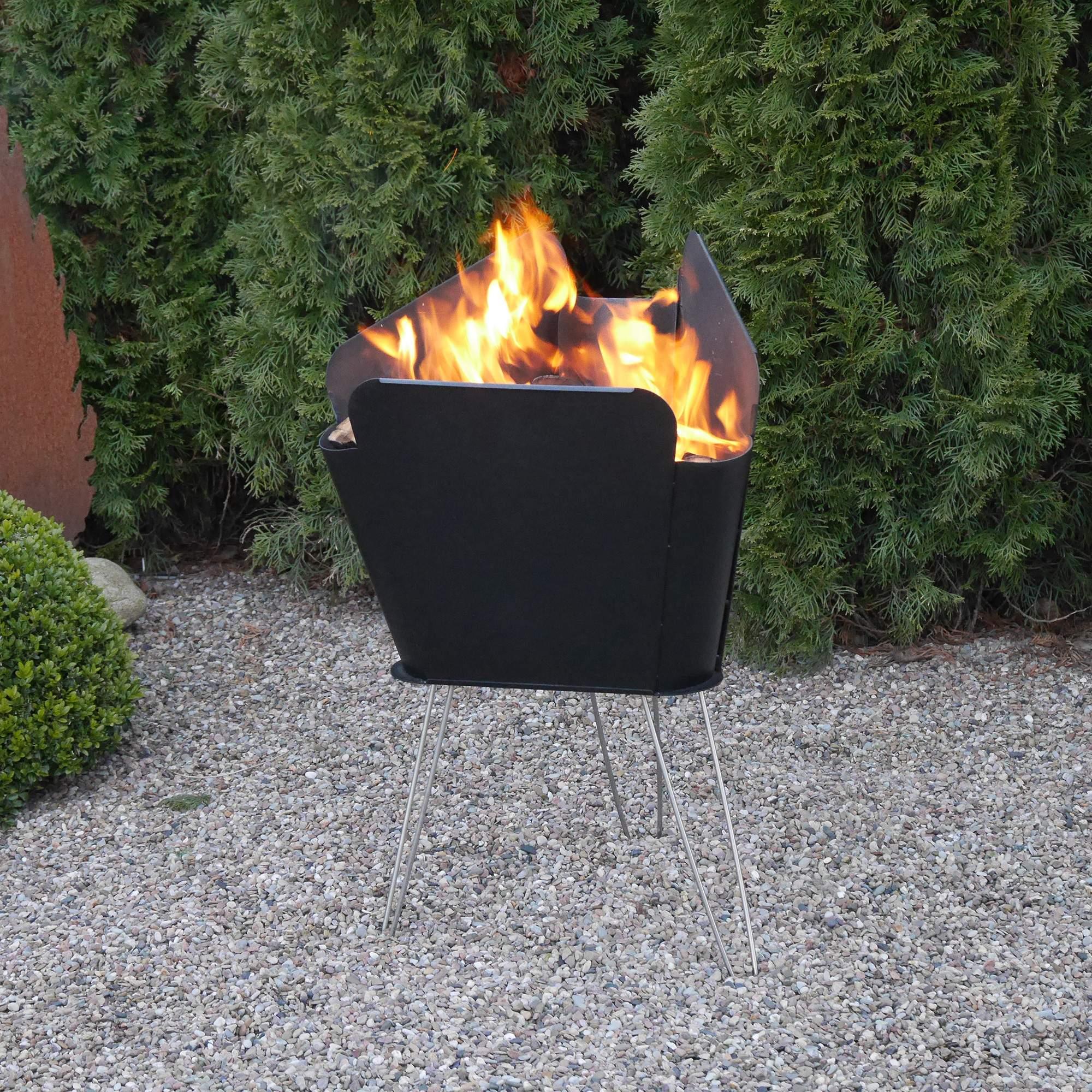Feuerstelle Im Garten Reizend Vasner Merive M2 Feuerkorb Garten