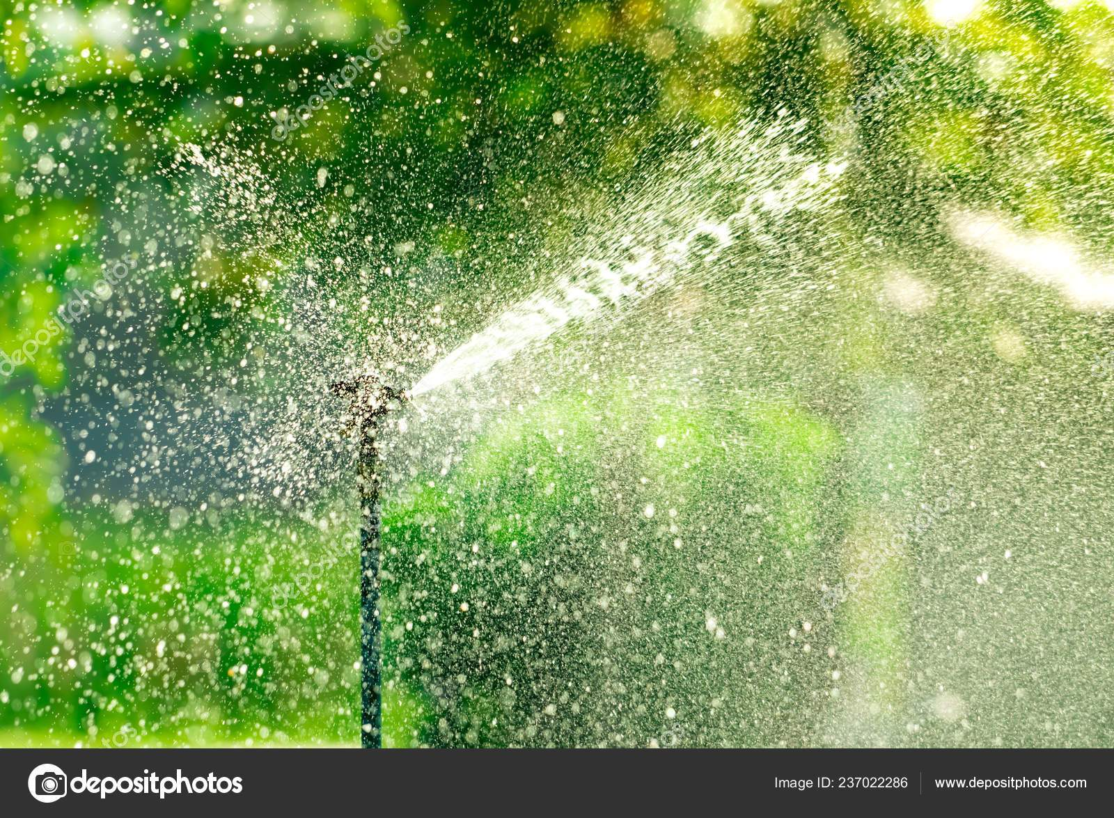 depositphotos stock photo automatic lawn sprinkler watering green