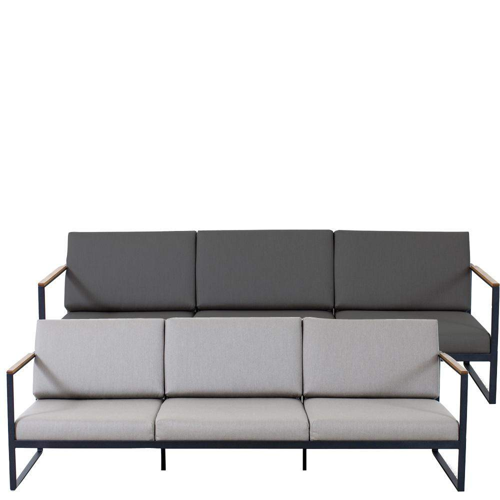 Roeshults Outdoor Garten Easy Sofa fuer 3 Personen