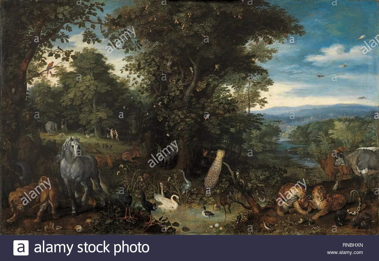 """Garten Eden Einzigartig Jan Der """"ltere Brueghel Brüssel 1568 Antwerpen 1625"""
