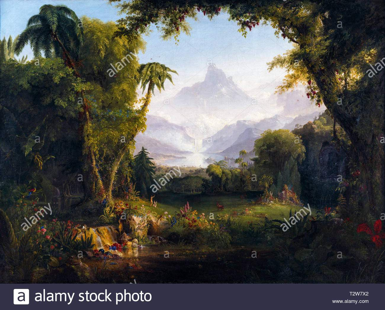 thomas cole der garten eden malerei 1828 image