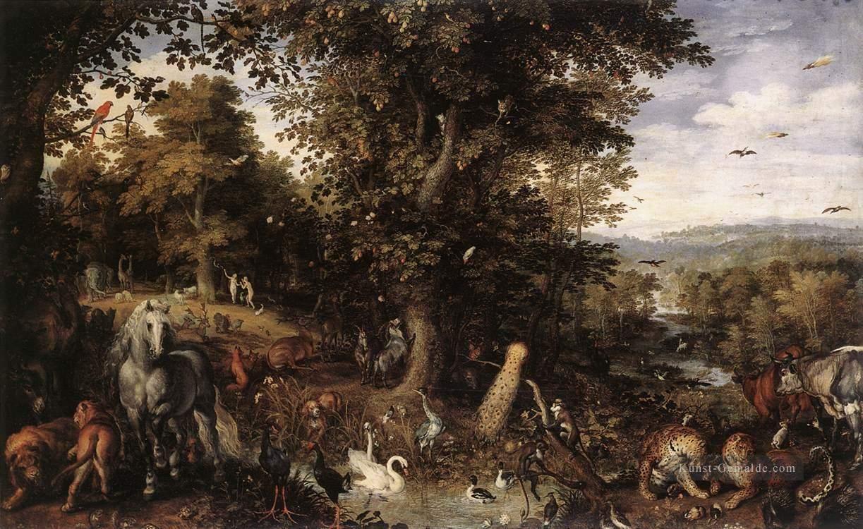 """Garten Eden Neu Garten Eden Flämisch Jan Brueghel Der """"ltere Gemälde Mit öl"""