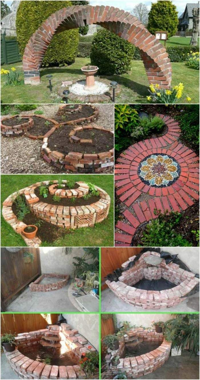 gartenweg anlegen upcycling ideen backstein
