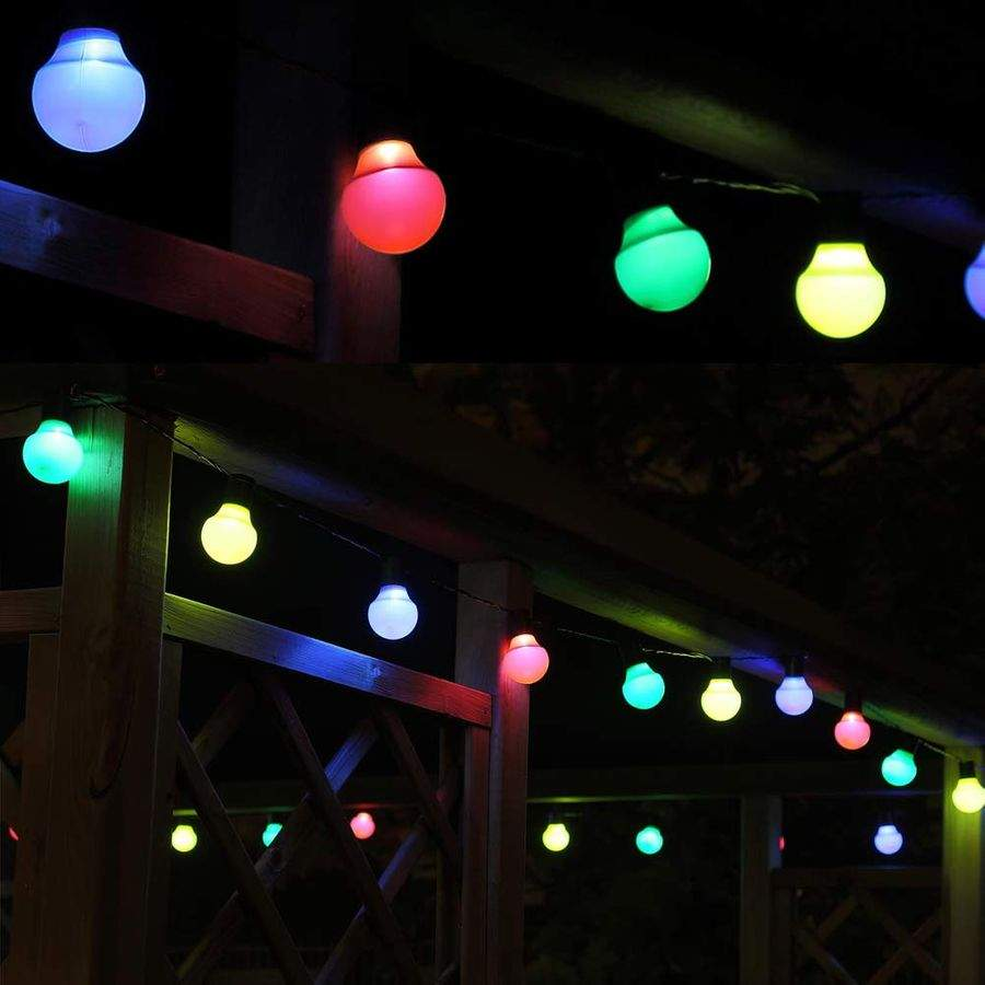 garten lichterkette bunt led