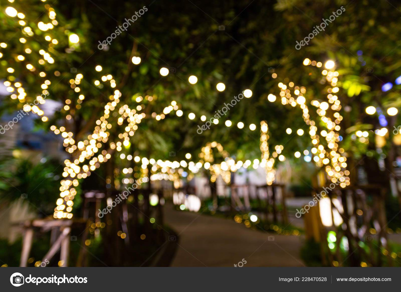 depositphotos stock photo blurred image decorative outdoor string