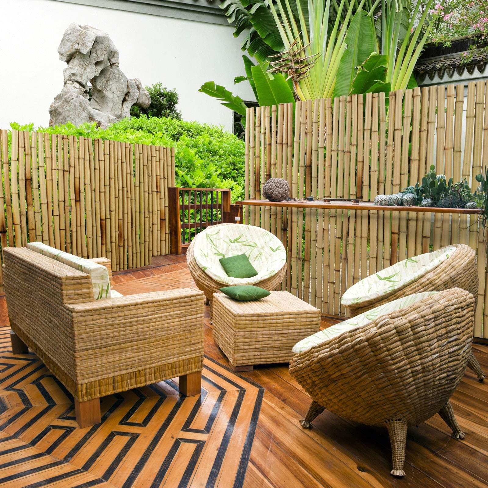 bambus sichtschutz natur garten terasse