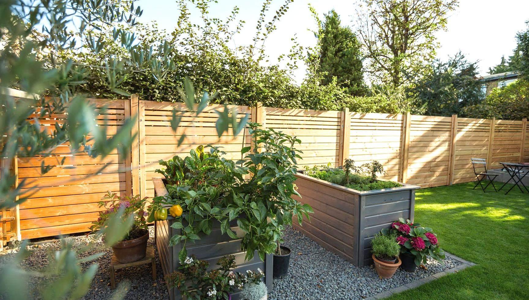 Garten Hochbeete Holzzaun Sichtschutz sichtschutz garten