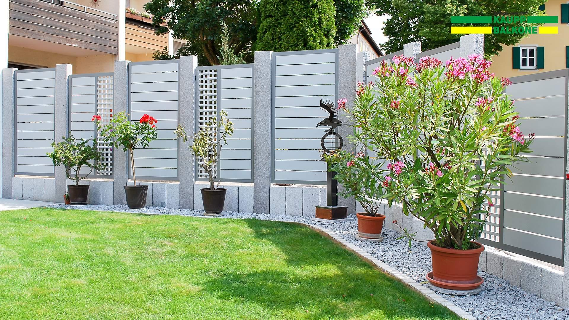 Garten Sichtschutz Luxus Alu Sichtschutz Pulverbeschichtet Stabil Und
