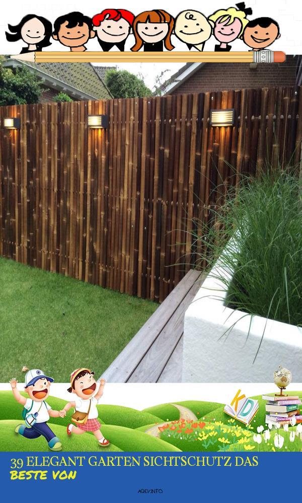 Garten Sichtschutz Schön Sichtschutz Aus Bambus Xxl Nigra Gartenzaun Bambuszaun Garten Zaun In 4 Größen