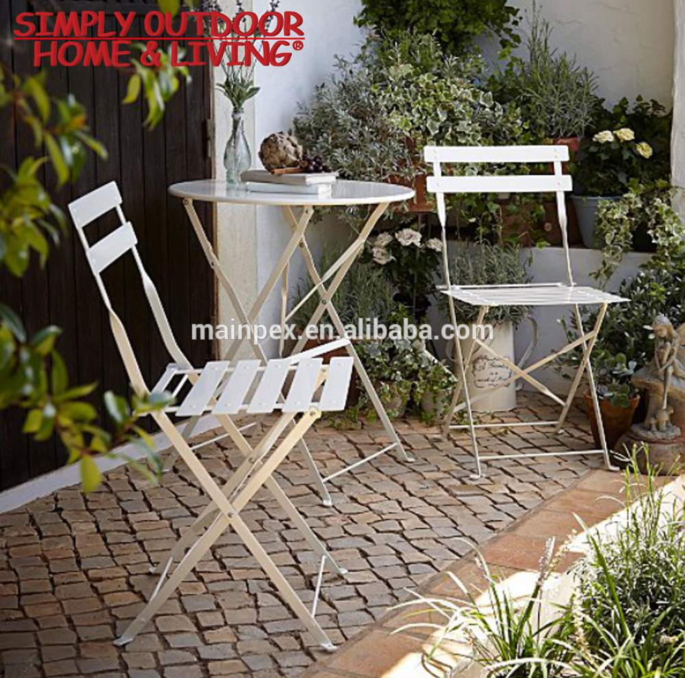 garden balcony bistro set folding garden chairs foldable round table with 2 chairs