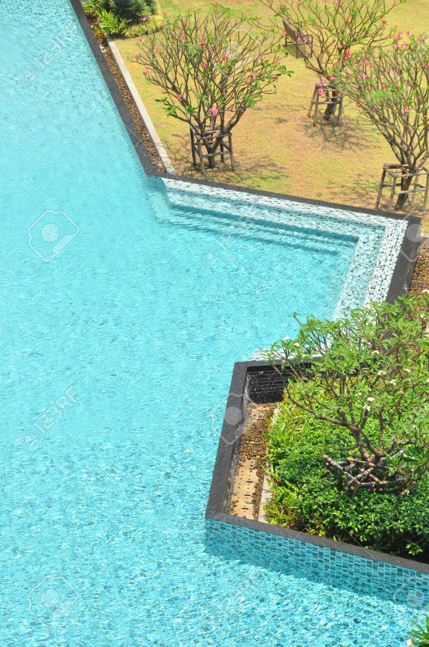 photo free form swimming pool in the garden