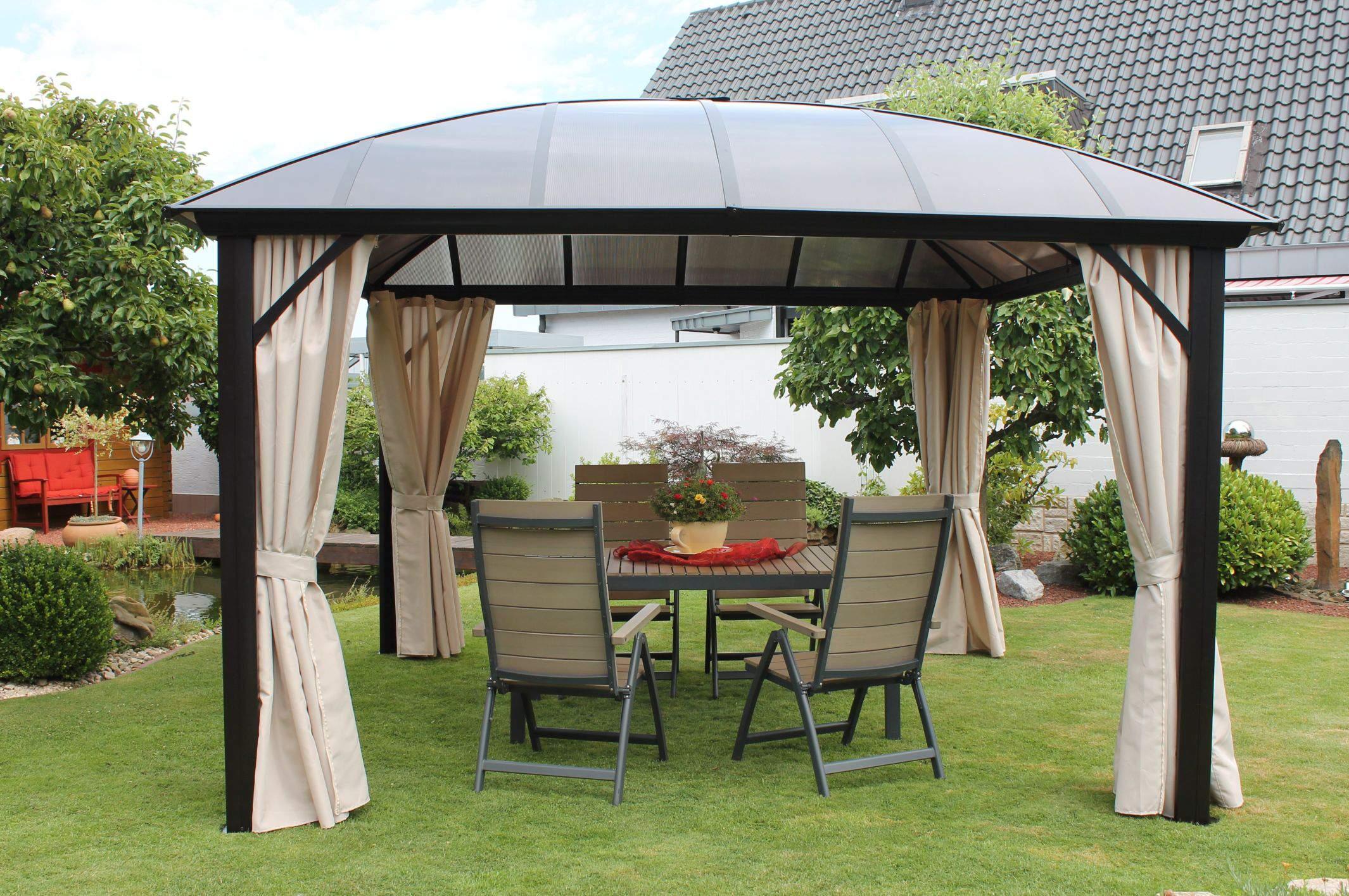 Pavillon Garten Elegant Leco Kuppeldachpavillon Garten Pavillon sonnenschutz Festzelt Partyzelt Natur