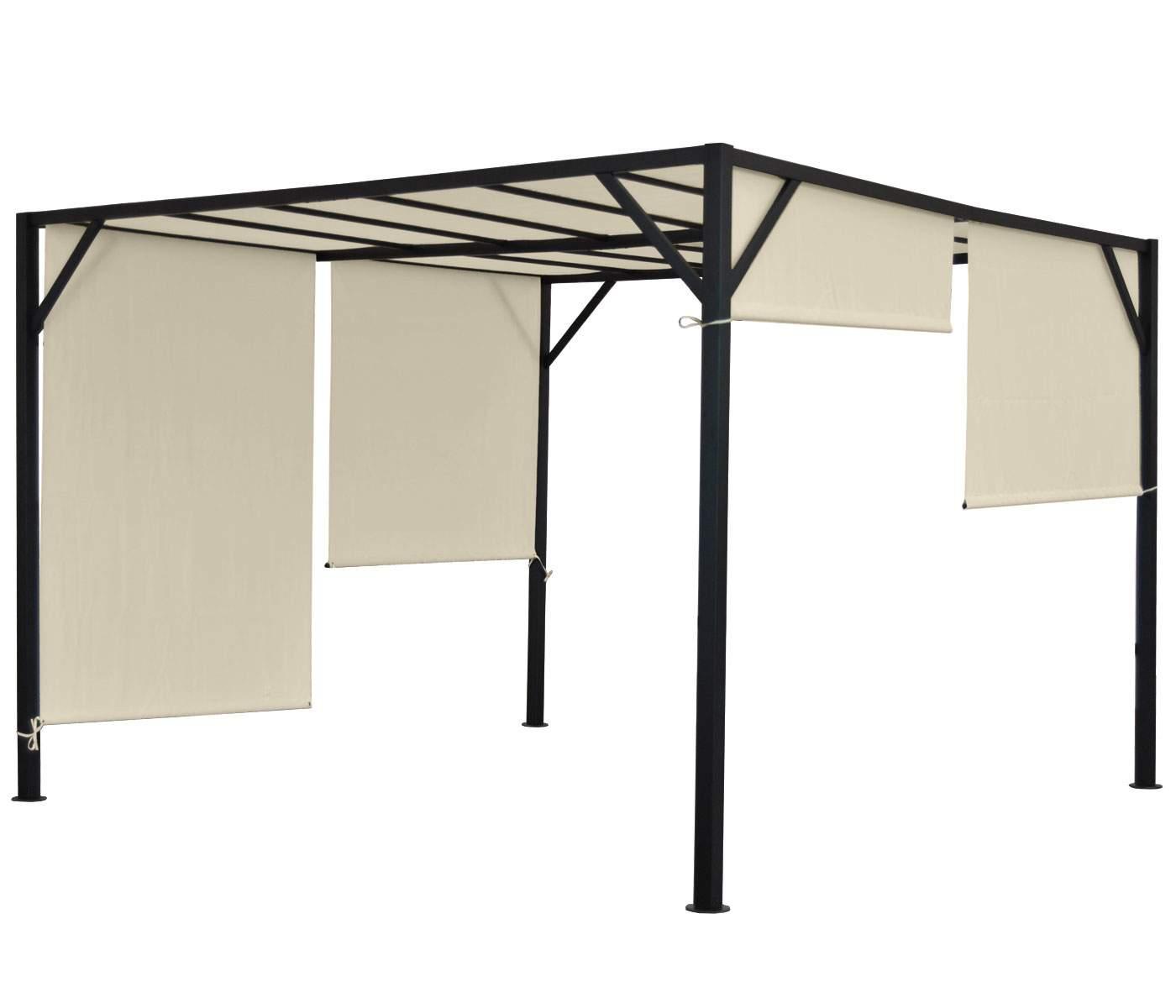 Pavillon Garten Schön Details Zu Pergola Beja Garten Pavillon Stabiles 6cm Stahl Gestell Schiebedach 4x4m