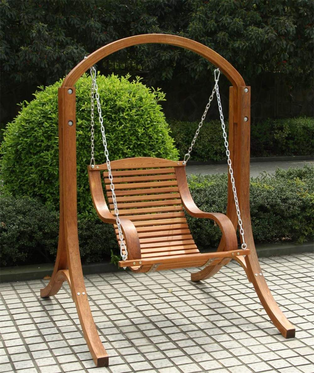 outdoor two seater wooden garden swing for adults wooden swing frame wooden swing and stand odf108