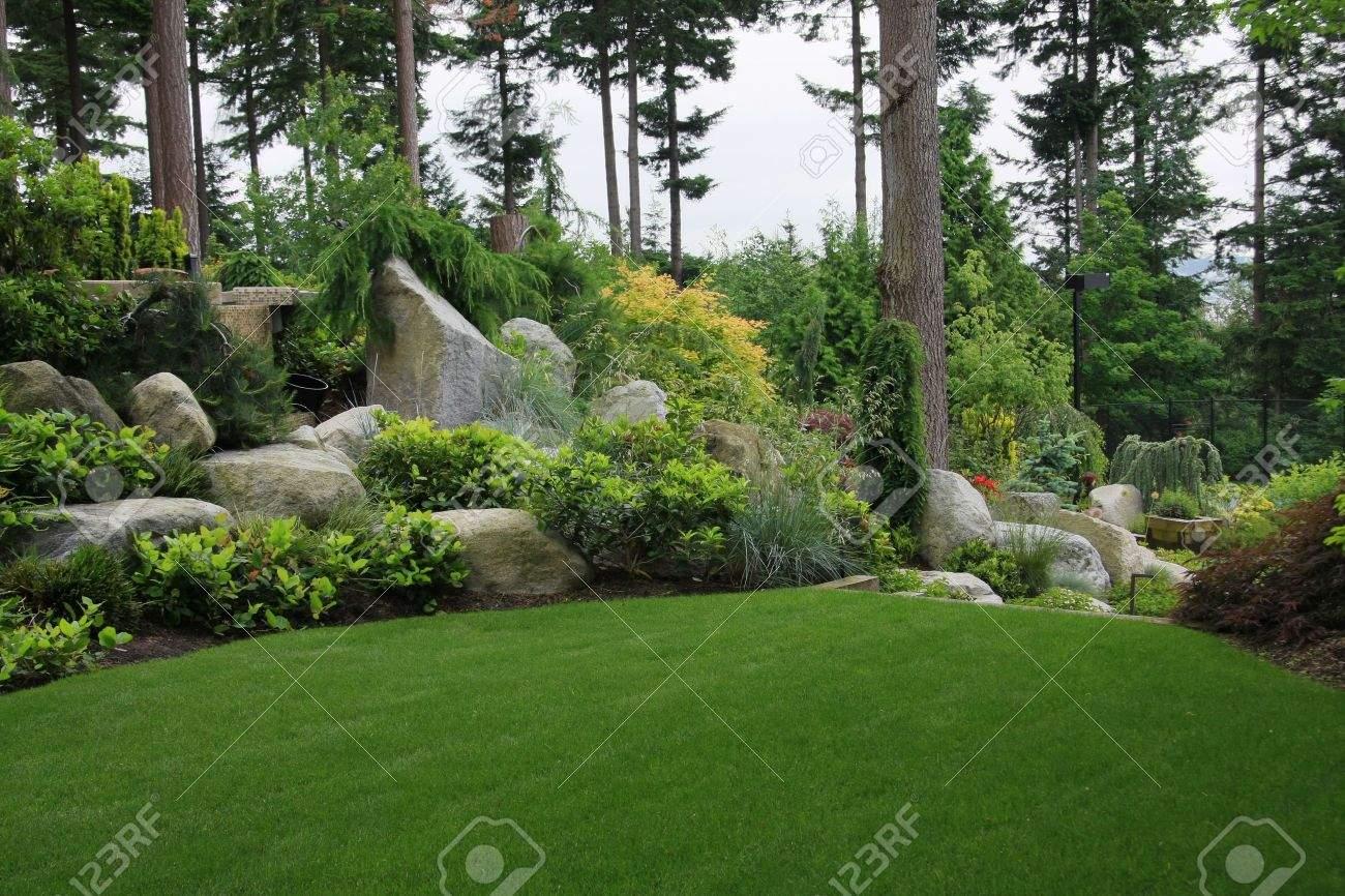 Schöner Garten Schön Stock
