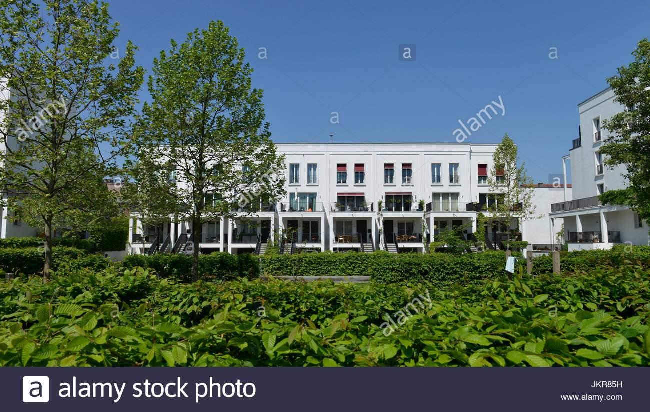 neubau siedlung im schweizer garten prenzlauer berg pankow berlin deutschland neubausiedlung bin schweizer garten prenzlauer berg deut jkr85h