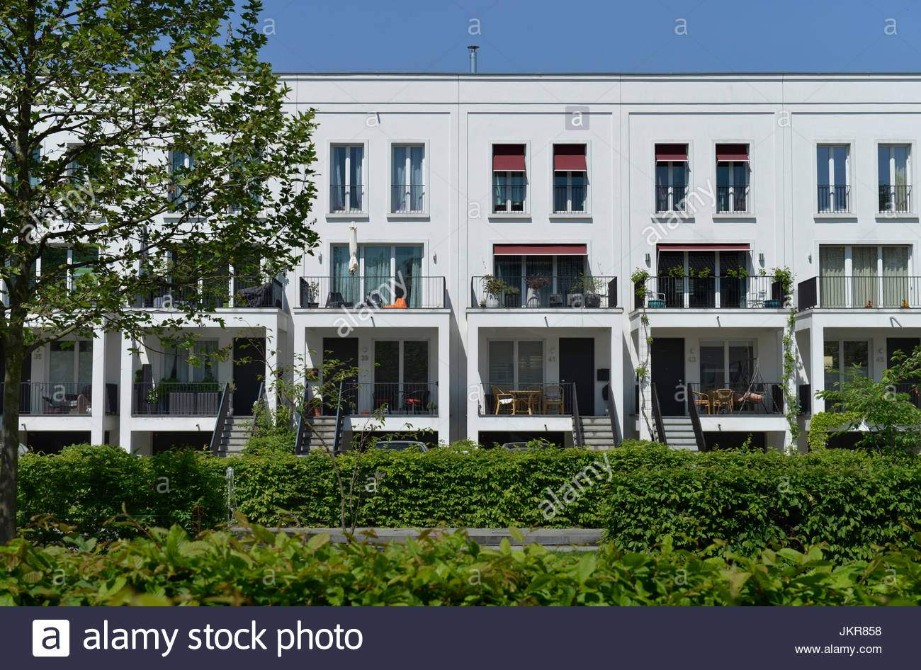 neubau siedlung im schweizer garten prenzlauer berg pankow berlin deutschland neubausiedlung bin schweizer garten prenzlauer berg deut jkr858