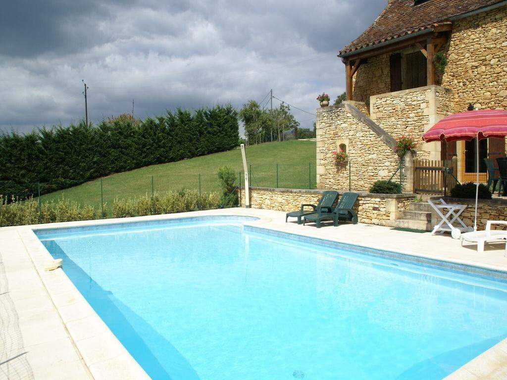 gites holiday home with garden and private swimming pool in a quiet forested area besse h de