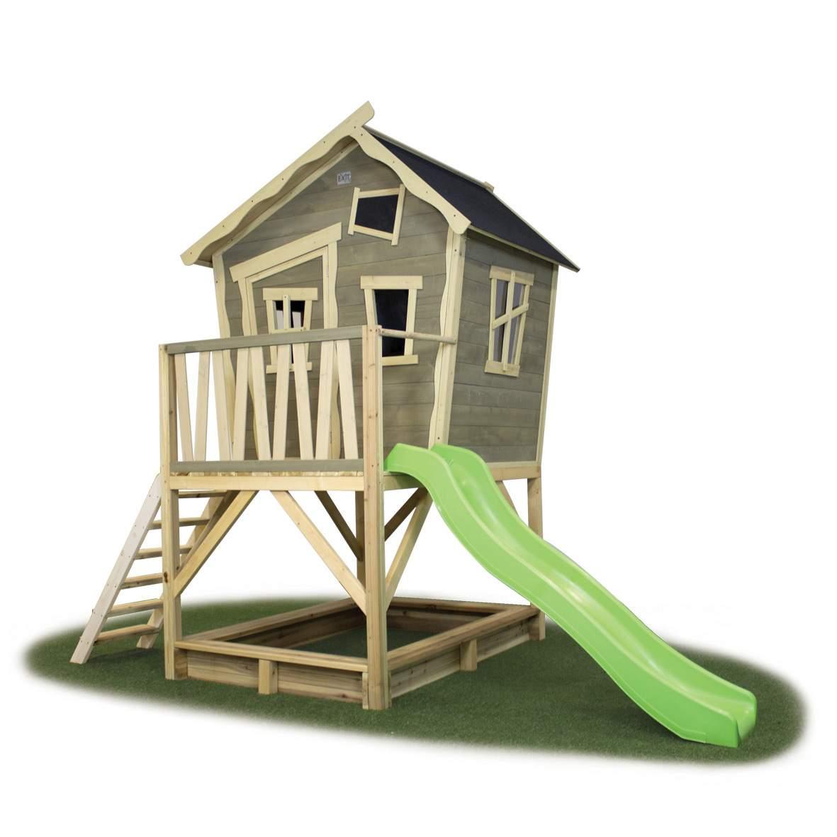 kinder spielhaus exit crooky 500 kinderspielhaus holz stelzenhaus i