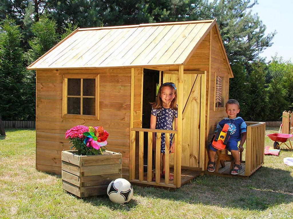 Spielhaus Garten Frisch Details Zu Holz Kinder Spielhaus 182x217cm Kiefer Holz Veranda Garten Holzhaus Outdoor