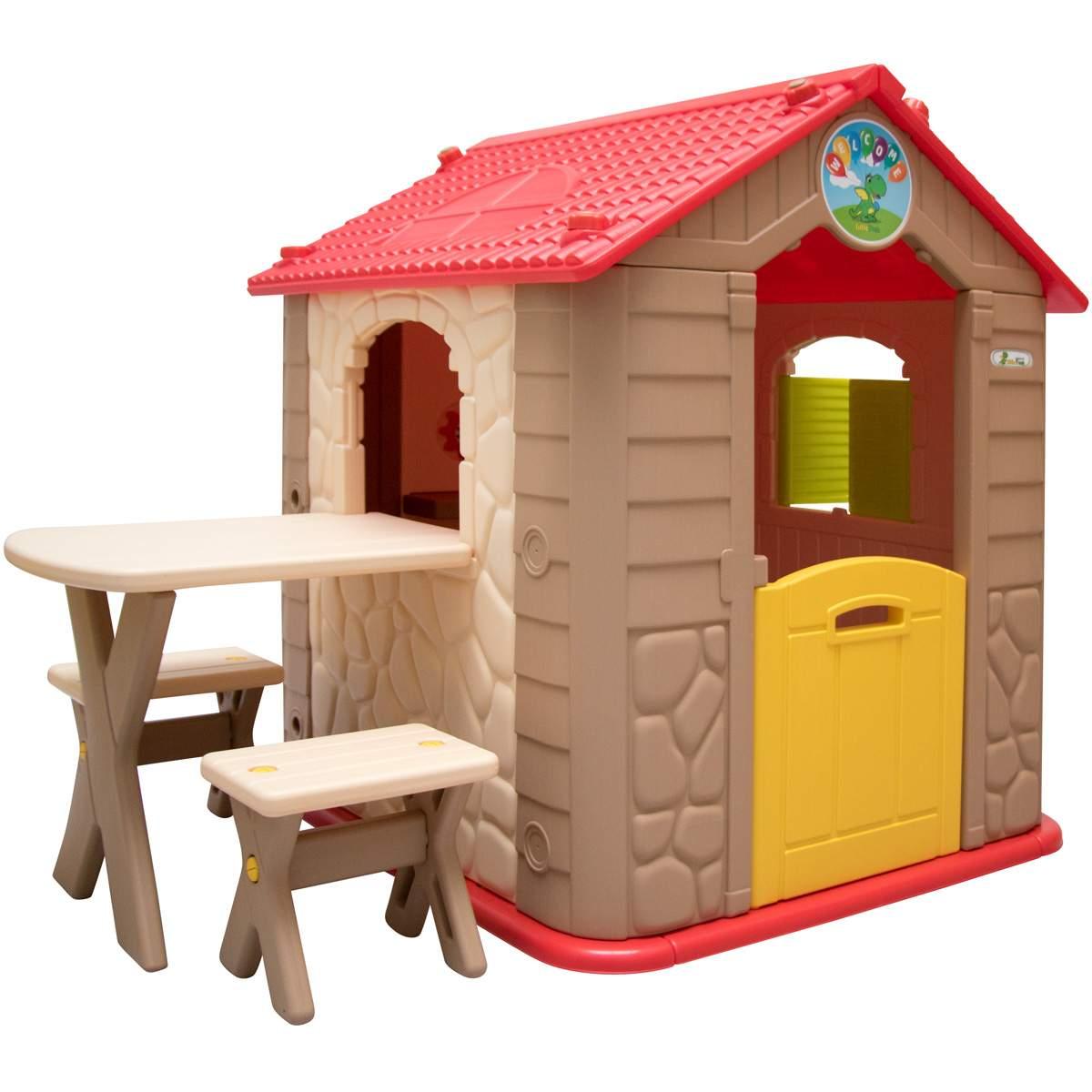 Spielhaus Garten Schön Kinder Spielhaus Ab 1 Garten Kinderhaus Mit Tisch Indoor Kinderspielhaus