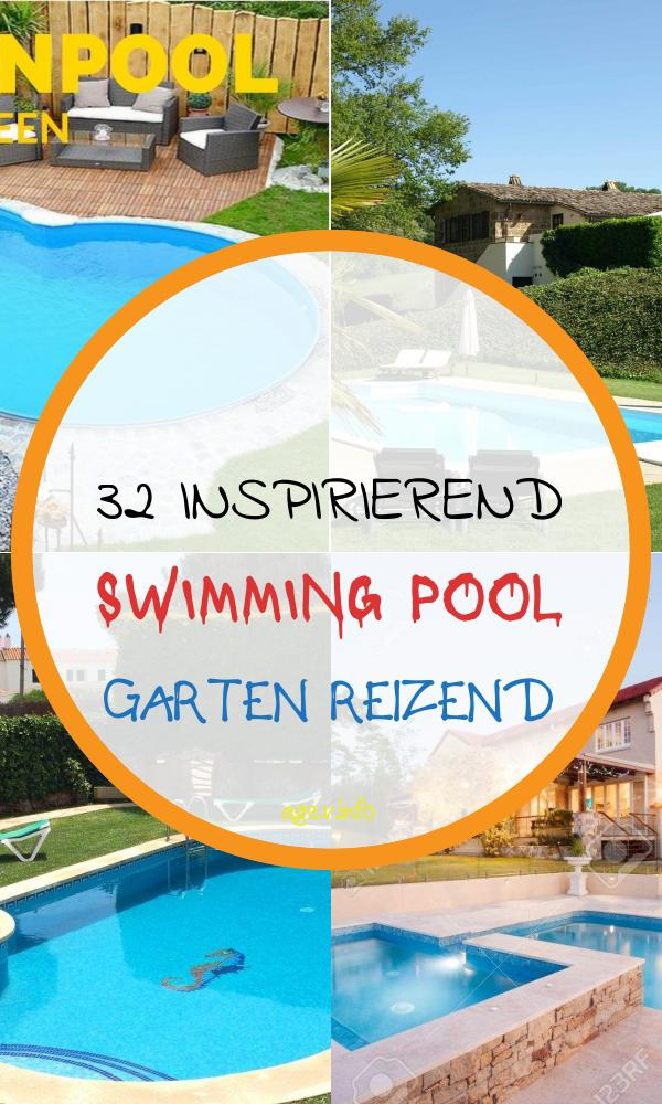 Swimming Pool Garten Inspirierend Stock