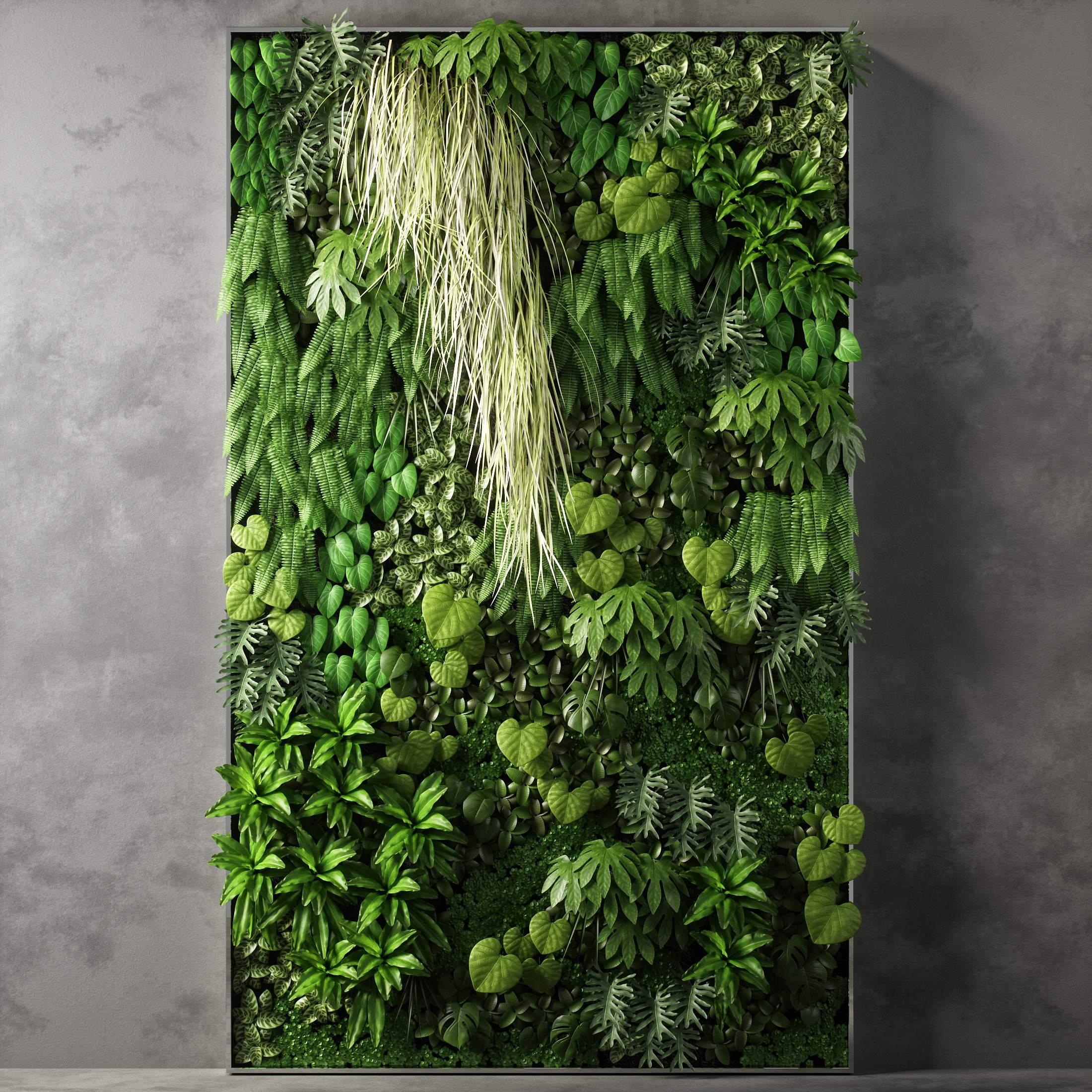 3d vertical garden 05 model