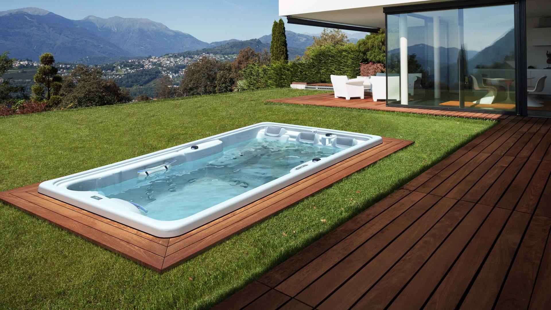 Whirlpool Garten Schön Swim Spas Im Garten Spanatural
