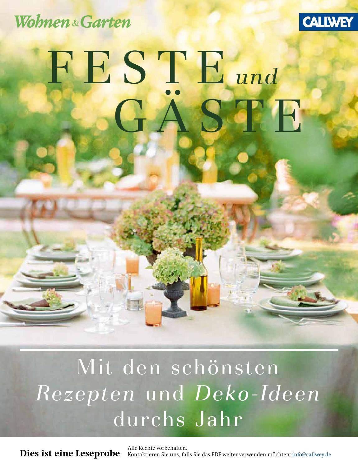 Wohnen Und Garten Genial Wohnen & Garten Hrsg Feste Und Gaeste Callwey issuu by