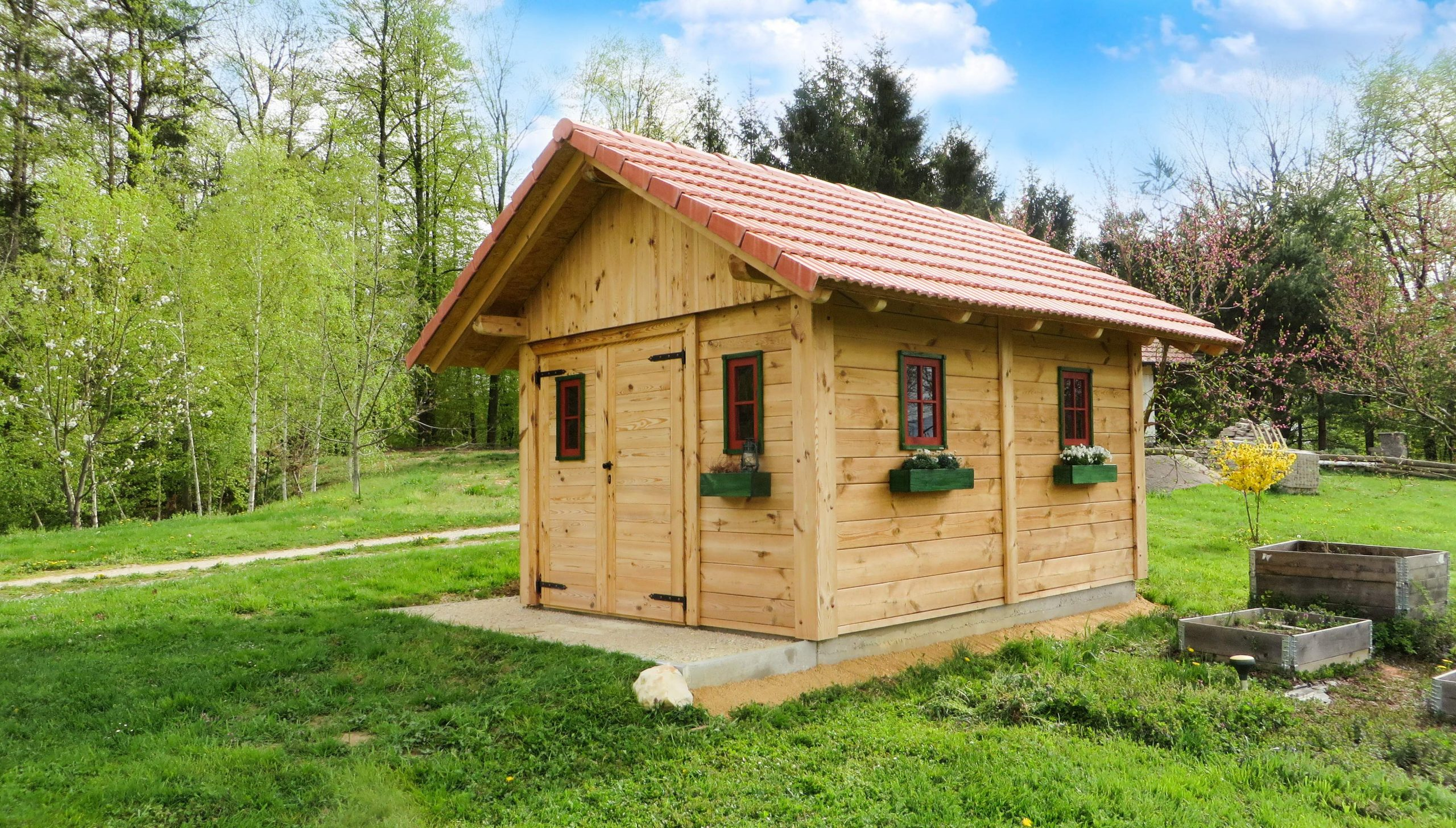 garden house shed chalet log cabin house hut pxhere