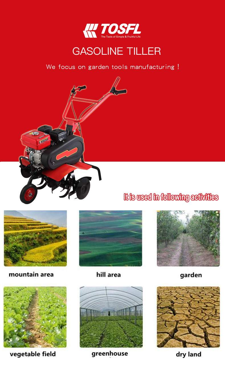 rotary cultivator garden tine wheel hoe cultivator machinery tf gt007