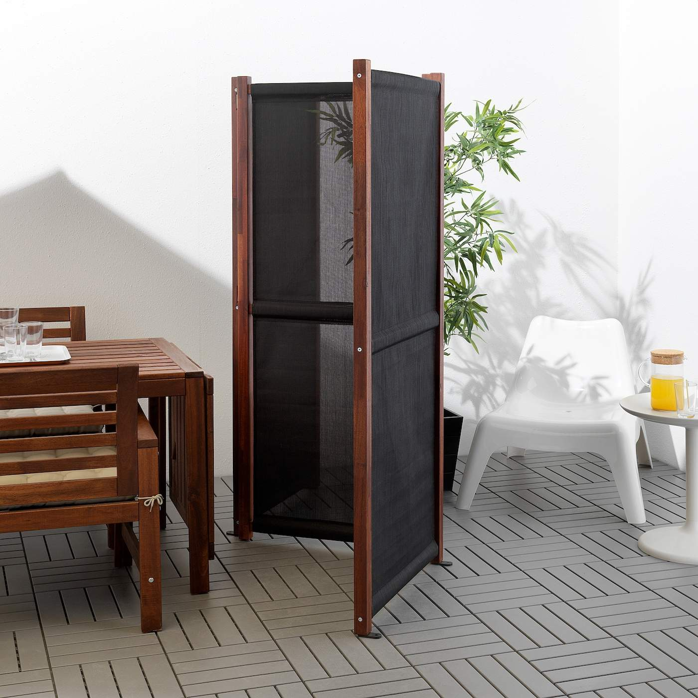 slaettoe privacy screen outdoor black brown stained PE S5 JPG