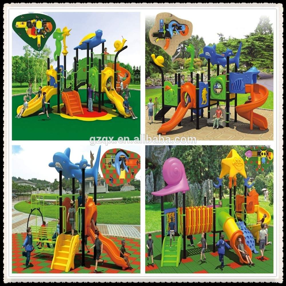 attractive safety park equipment for kids kids garden play equipment kids plastic outdoor play equipment qx 052b