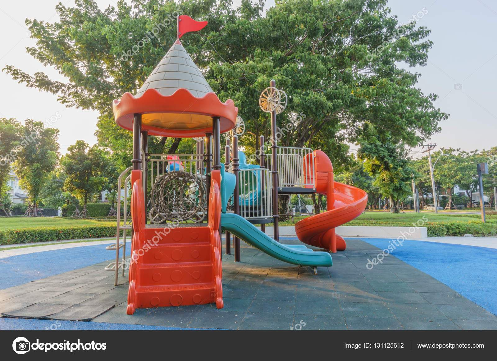depositphotos stock photo a colorful public playground in