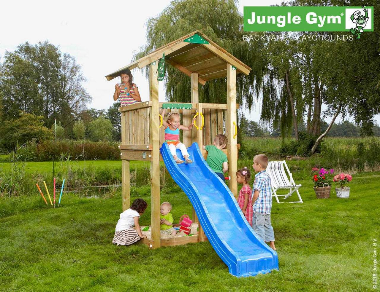 kinder spielturm jungle gym casa rutsche 2 30 m douglasie natur 317