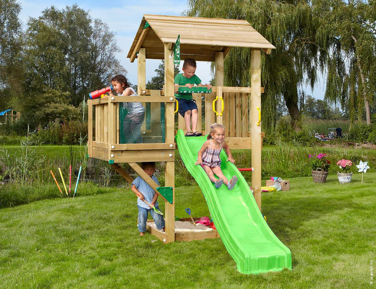 garden play tower casa balcony green