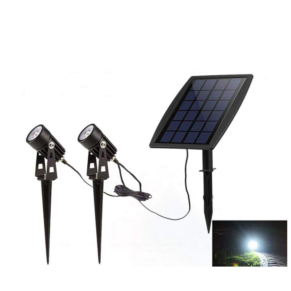 Solar Powered 2 in 1 LED Light Waterproof Light controlled Sensor Spotlights Outdoor Garden Lawn Yard Porch Walkway Lamps p
