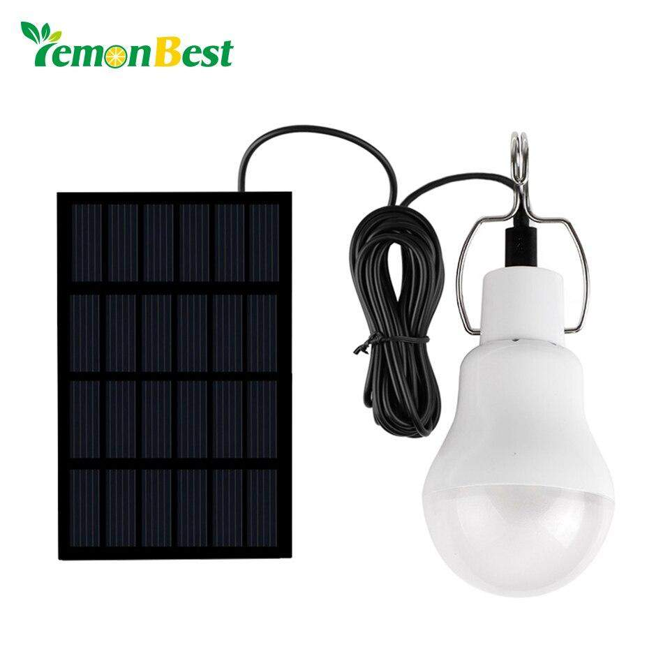 LemonBest Solar panel LED bulb LED Solar Lamp Solar Power LED Light Outdoor Solar Lamp Spotlight